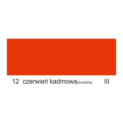 12 czerwień kadmowa średnia III