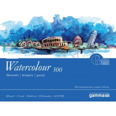 Blok Gamma Watercolour 300g 10ark 30x40