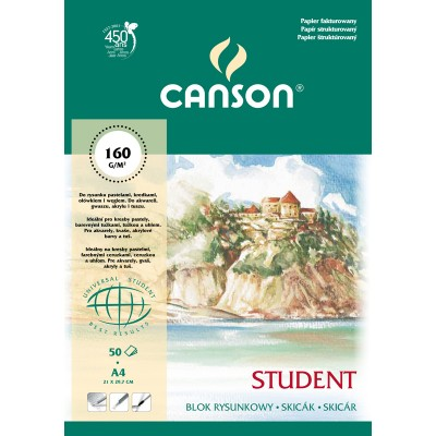 Blok Canson Student 160g 50ark A4