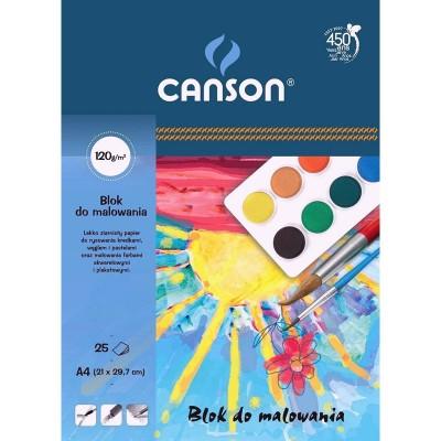 Blok Canson do Malowania 120g 25ark A3