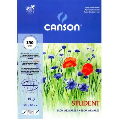Blok Canson Student do akwareli 250g 10ark A5