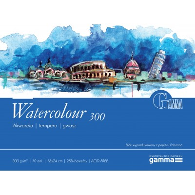 Blok Gamma Watercolour 300g 10ark 18x24