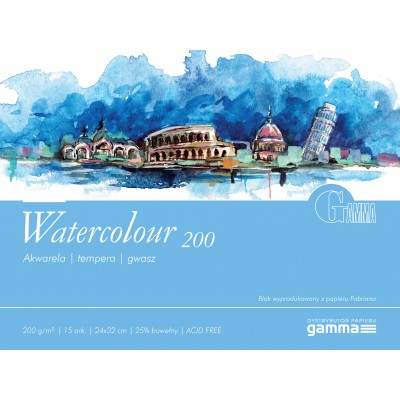 Blok Gamma Watercolour 200g 15ark 24x32