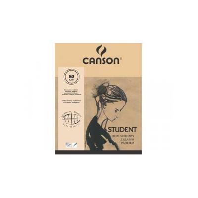 Szkicownik Canson Student Szary Papier  80g 100ark A4